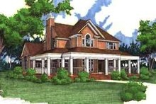 Dream House Plan - Country Exterior - Other Elevation Plan #120-134