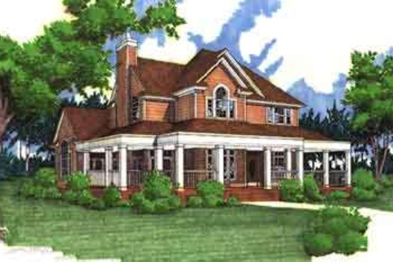 Country Exterior - Other Elevation Plan #120-134 - Houseplans.com