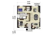 Contemporary Style House Plan - 2 Beds 1 Baths 1081 Sq/Ft Plan #25-4453 Floor Plan - Main Floor Plan