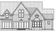 Colonial Style House Plan - 4 Beds 3.5 Baths 4239 Sq/Ft Plan #413-825 Exterior - Rear Elevation