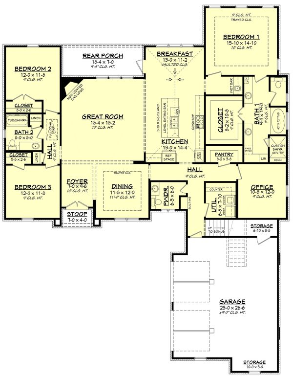 European Floor Plan - Main Floor Plan #430-133