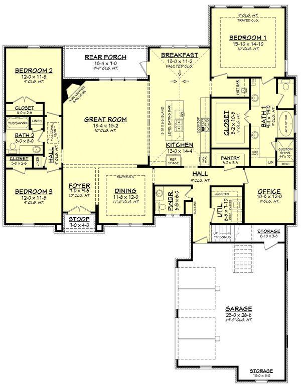 House Plan Design - European Floor Plan - Main Floor Plan #430-133