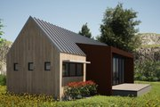 Modern Style House Plan - 2 Beds 2 Baths 991 Sq/Ft Plan #933-5 Exterior - Other Elevation
