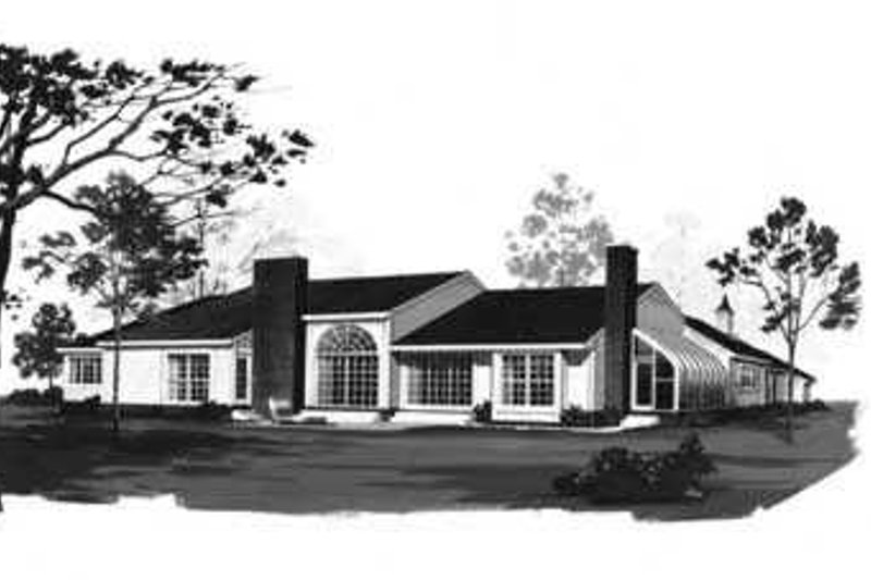 Traditional Exterior - Rear Elevation Plan #72-159 - Houseplans.com