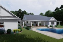 House Plan Design - Farmhouse Exterior - Rear Elevation Plan #120-254