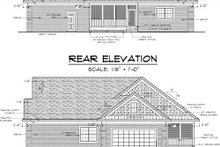 Traditional Exterior - Rear Elevation Plan #51-347