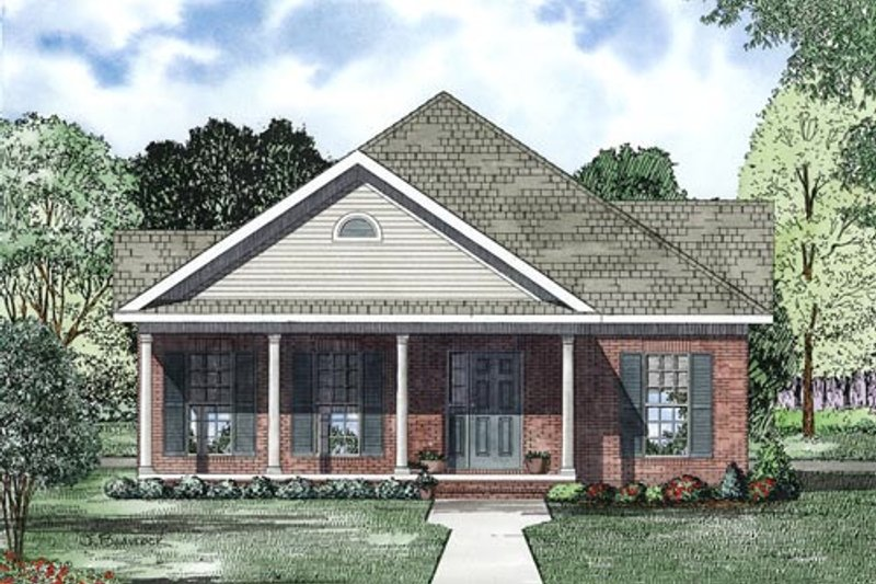 Traditional Exterior - Other Elevation Plan #17-2419 - Houseplans.com