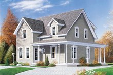 Country Exterior - Front Elevation Plan #23-225