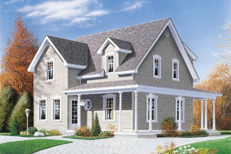 Architectural House Design - Country Exterior - Front Elevation Plan #23-225
