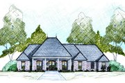 European Style House Plan - 4 Beds 3.5 Baths 2639 Sq/Ft Plan #36-487 Exterior - Front Elevation