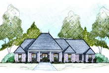 European Exterior - Front Elevation Plan #36-487