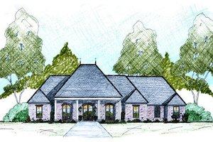 Dream House Plan - European Exterior - Front Elevation Plan #36-487