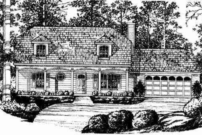 Traditional Exterior - Other Elevation Plan #40-202 - Houseplans.com
