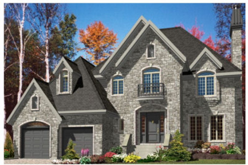 European Style House Plan - 3 Beds 2.5 Baths 2260 Sq/Ft Plan #138-246 Exterior - Front Elevation
