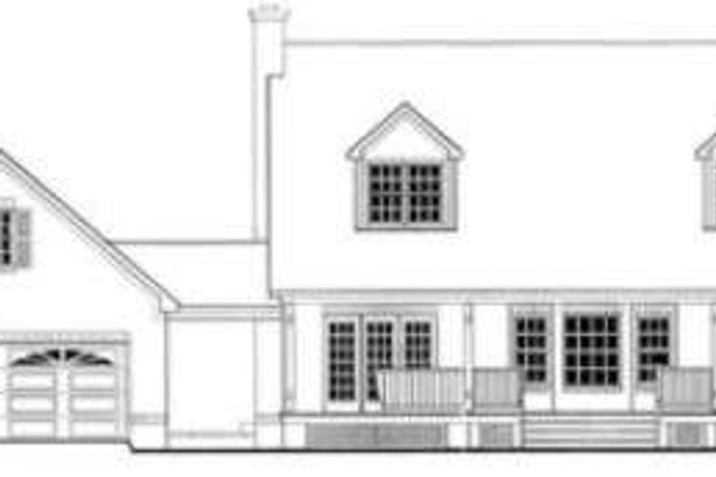 Southern Exterior - Rear Elevation Plan #406-222 - Houseplans.com