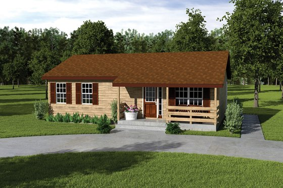 Cottage Exterior - Front Elevation Plan #57-220