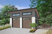 Architectural House Design - Contemporary Exterior - Front Elevation Plan #23-2636