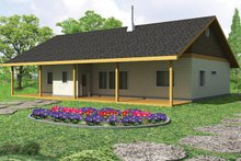 Cabin Exterior - Front Elevation Plan #117-857