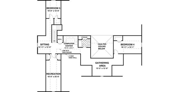 Traditional Floor Plan - Other Floor Plan Plan #56-639
