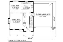 Traditional Floor Plan - Main Floor Plan Plan #70-1160