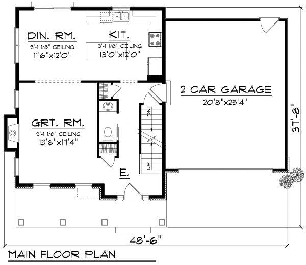 House Plan Design - Traditional Floor Plan - Main Floor Plan #70-1160