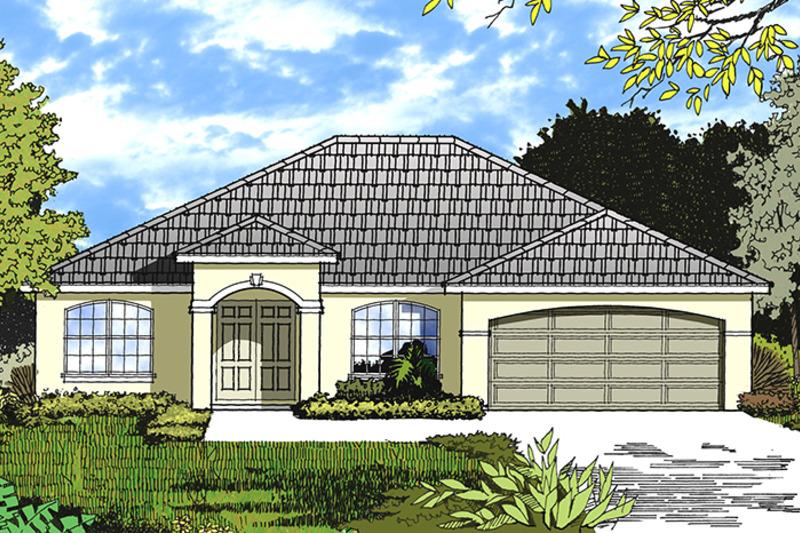 Ranch Exterior - Front Elevation Plan #417-839 - Houseplans.com