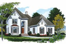Architectural House Design - Traditional Exterior - Front Elevation Plan #453-434