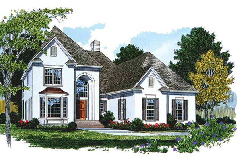 Traditional Exterior - Front Elevation Plan #453-434 - Houseplans.com