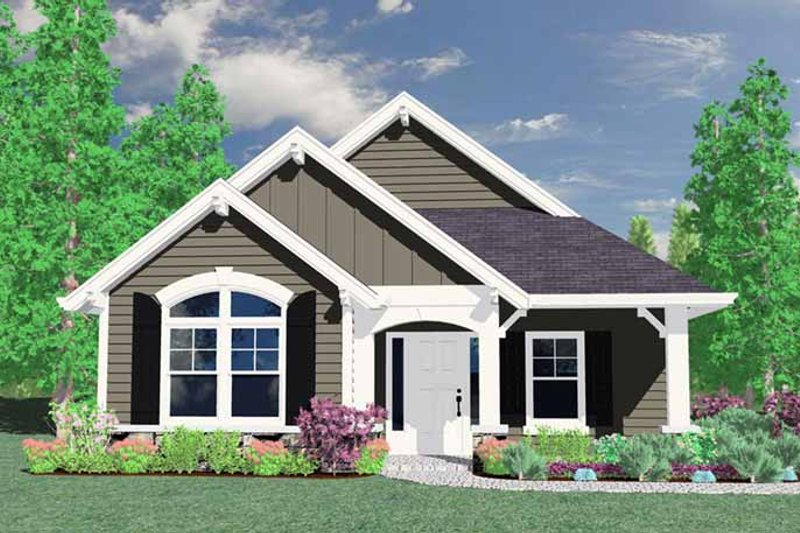 House Plan Design - Traditional Exterior - Front Elevation Plan #509-114