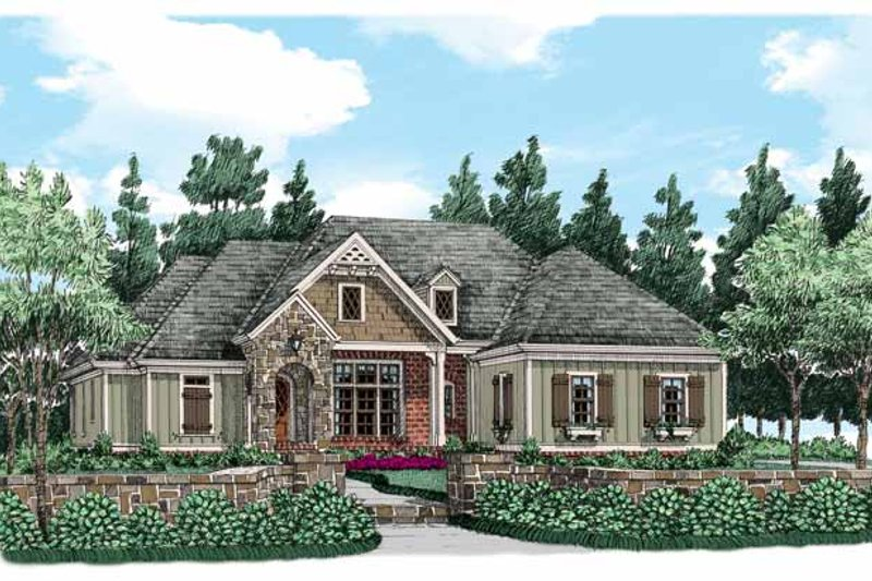 Traditional Exterior - Front Elevation Plan #927-497
