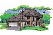 Architectural House Design - Colonial Exterior - Front Elevation Plan #51-1000