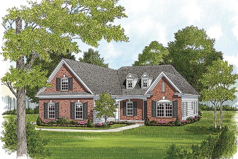 Colonial Exterior - Front Elevation Plan #453-629 - Houseplans.com