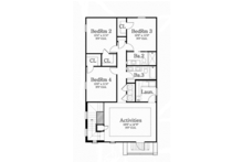 Mediterranean Floor Plan - Upper Floor Plan Plan #1058-78
