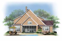 Craftsman Exterior - Rear Elevation Plan #929-871