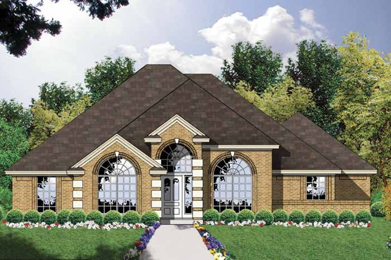 Ranch Exterior - Front Elevation Plan #40-442