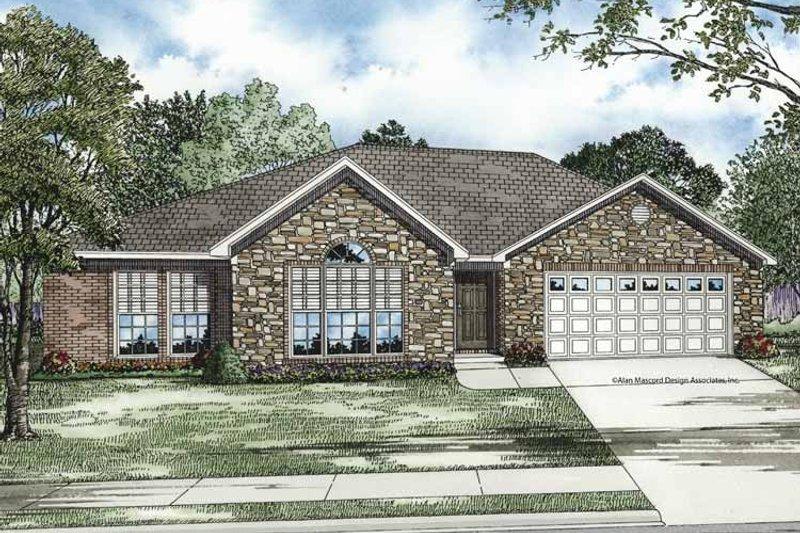 Ranch Exterior - Front Elevation Plan #17-3204 - Houseplans.com