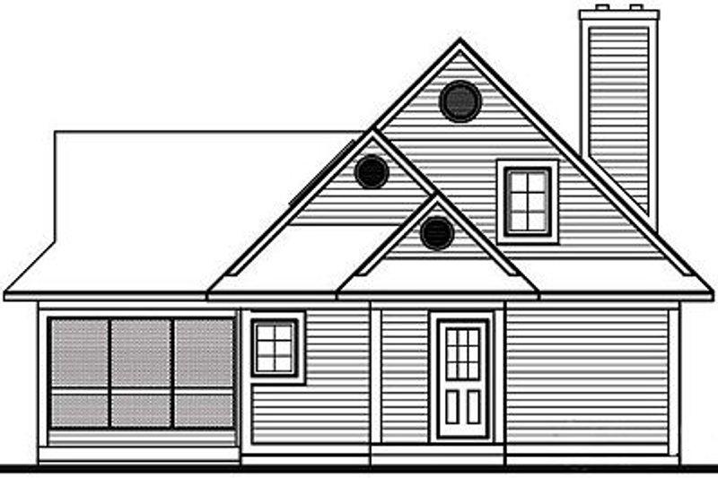 Farmhouse Exterior - Rear Elevation Plan #23-525 - Houseplans.com