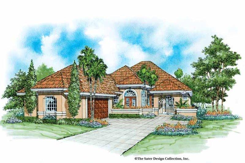 House Plan Design - Mediterranean Exterior - Front Elevation Plan #930-41