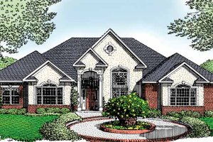 Dream House Plan - Traditional Exterior - Front Elevation Plan #11-250
