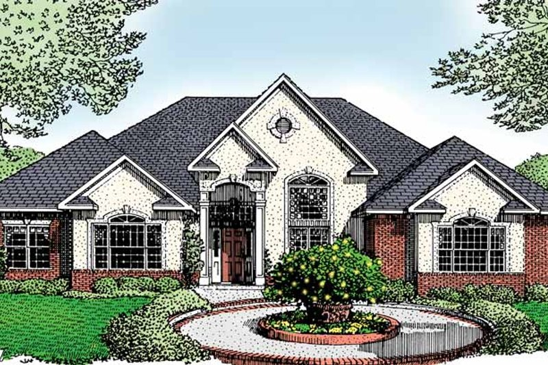 House Plan Design - Traditional Exterior - Front Elevation Plan #11-250