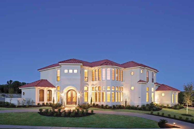 Architectural House Design - Mediterranean Exterior - Front Elevation Plan #952-196