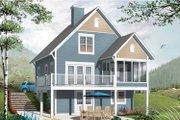 European Style House Plan - 3 Beds 2.5 Baths 1356 Sq/Ft Plan #23-2486