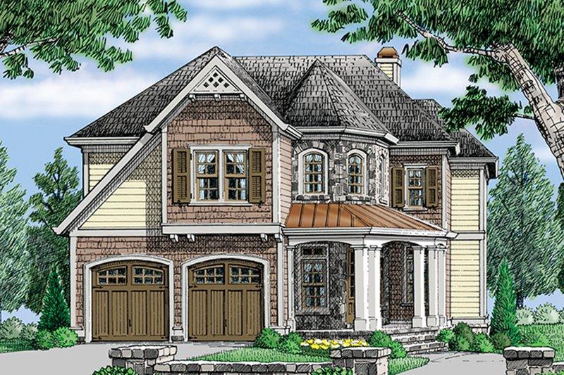 Architectural House Design - European Exterior - Front Elevation Plan #927-979