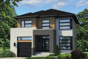 Contemporary Style House Plan - 4 Beds 1 Baths 1863 Sq/Ft Plan #25-4607 Exterior - Front Elevation