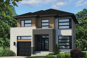 Contemporary Exterior - Front Elevation Plan #25-4607