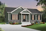 Ranch Style House Plan - 2 Beds 1 Baths 864 Sq/Ft Plan #23-2663 Exterior - Front Elevation
