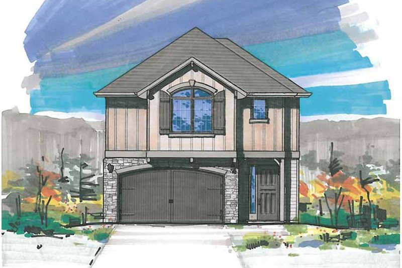Traditional Exterior - Front Elevation Plan #509-209
