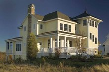 Architectural House Design - Country Exterior - Rear Elevation Plan #928-98