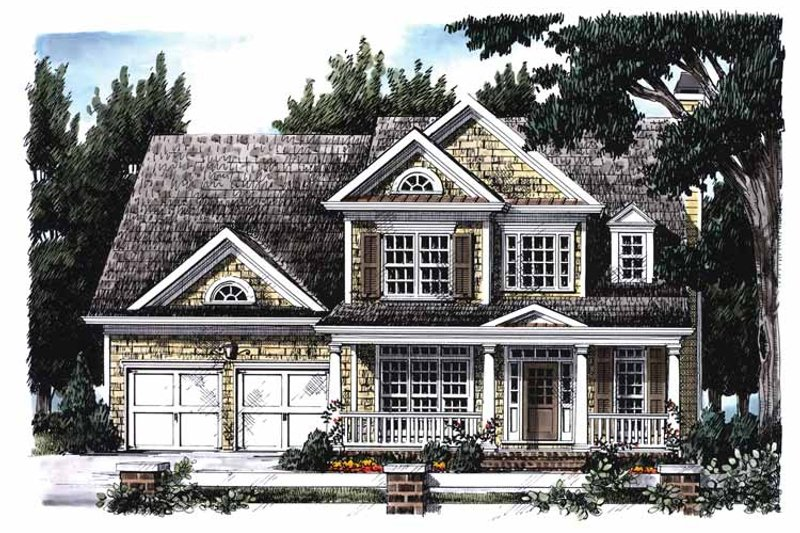Country Exterior - Front Elevation Plan #927-689