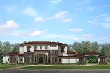 Dream House Plan - Mediterranean Exterior - Front Elevation Plan #1058-151